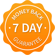 7 Day Money Back Guarantee on membership