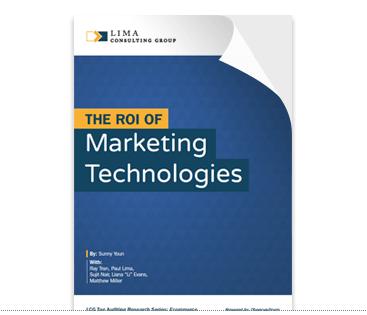 ROI of marketing technologies