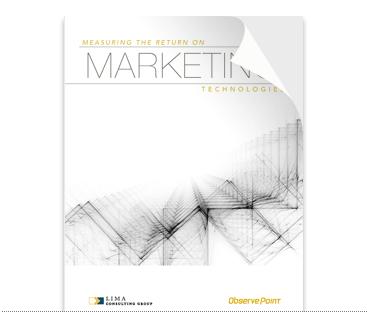 Measuring ROI of marketing technologies