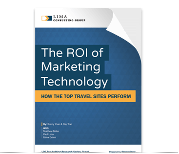 ROI of marketing technology - top travel sites