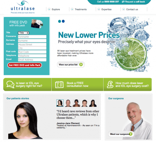 Ultralase-home-page-landing-page