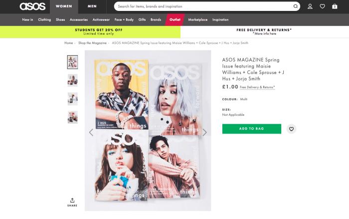ASOS digital magazine