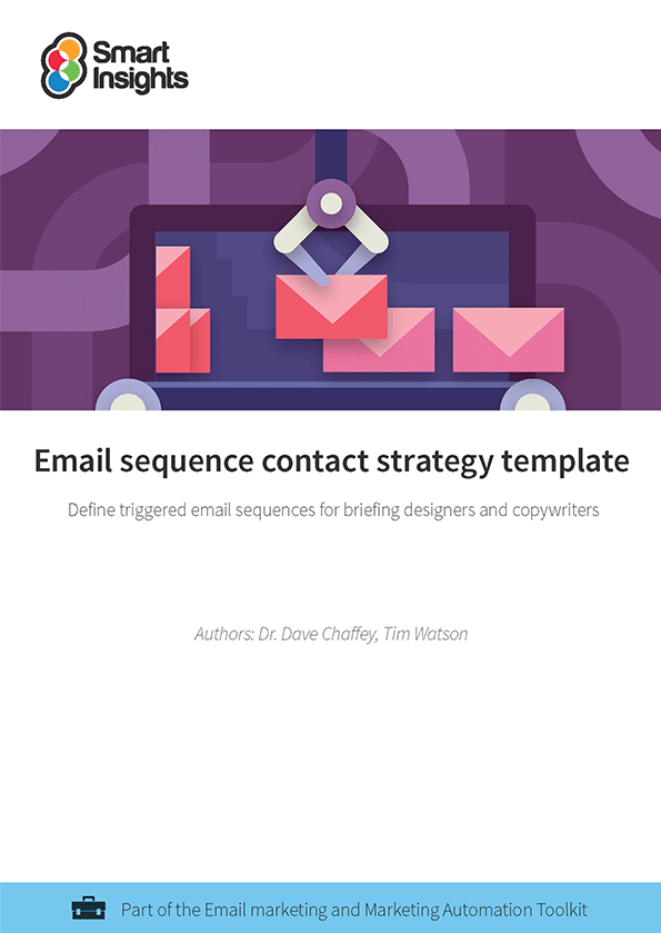 Email Sequence Contact Strategy Template Smart Insights - Strategy template