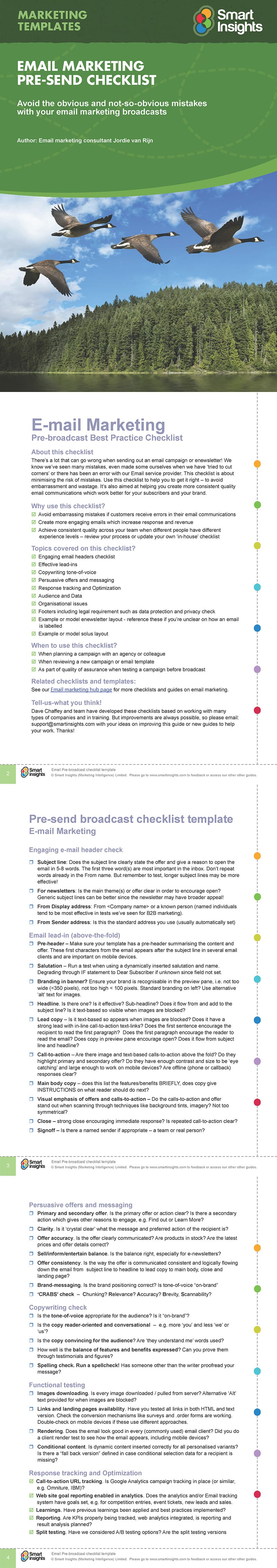 Email marketing campaign broadcast checklist