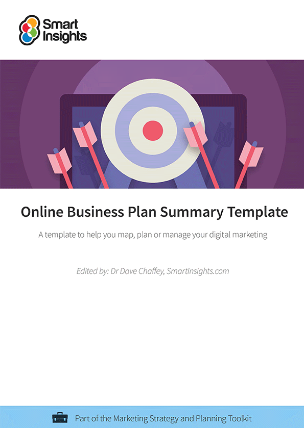 Online business plan summary template smart insights login here look inside the online business plan summary template flashek Images