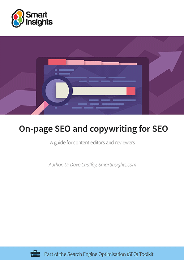 on page seo and copywriting template smart insights