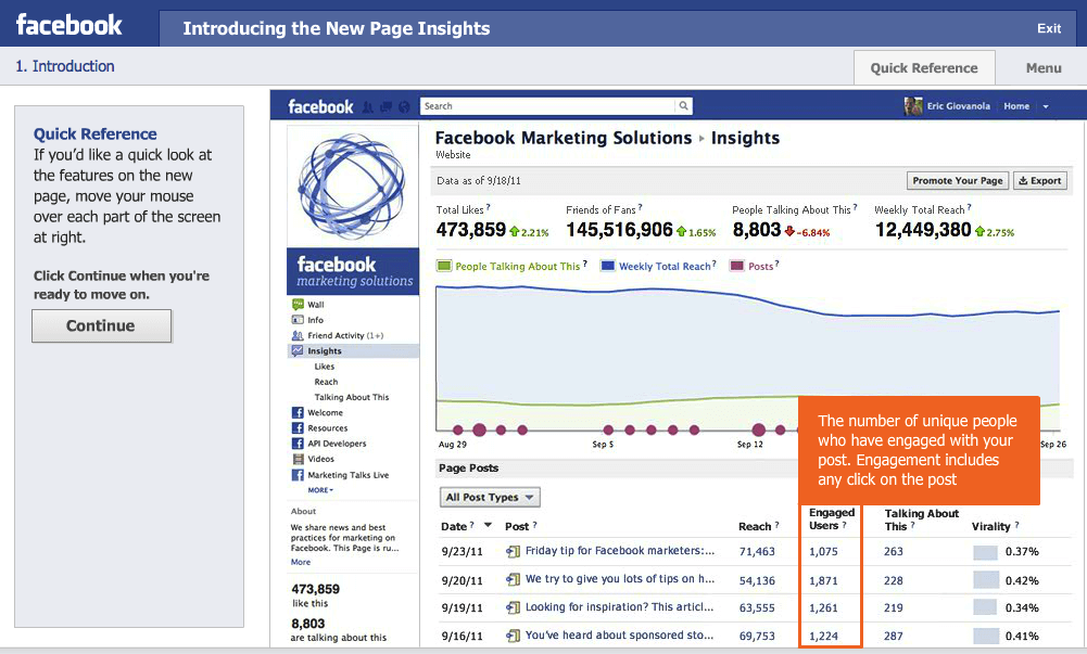 facebook guides for business smart insights rh smartinsights com Facebook Insights Logo Facebook Page Insights Guide