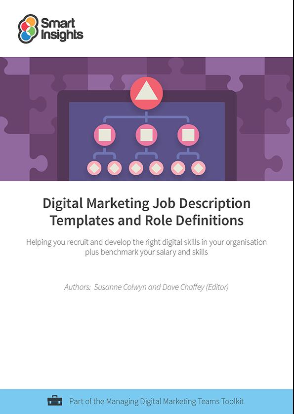 digital marketing job description templates and role