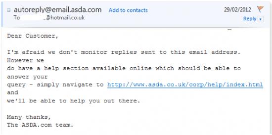 ADSA Auto-responder email