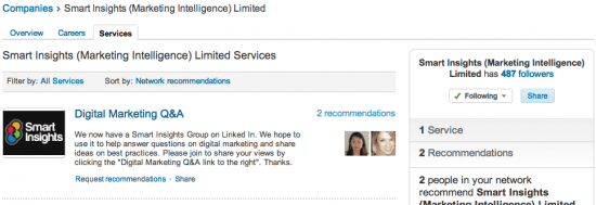 LinkedIn Recomemndtions