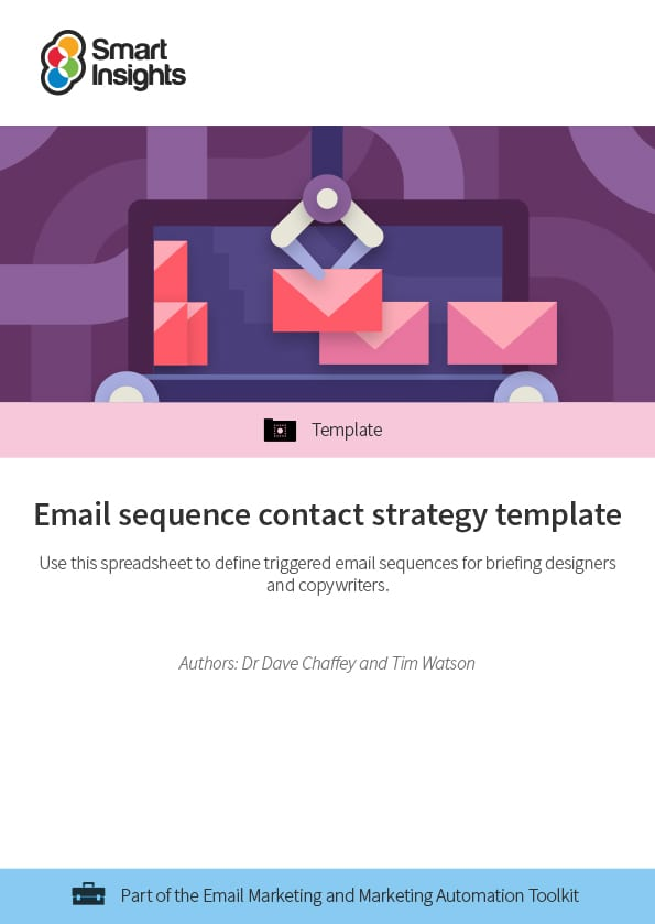 Email sequence contact strategy template | Smart Insights