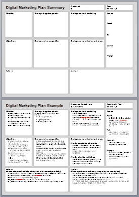 apartment marketing plan template - marketing strategy and planning smart insights