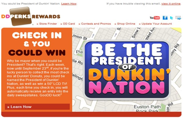 Dunkin' Donuts 'Be the President of DD' Competition Page