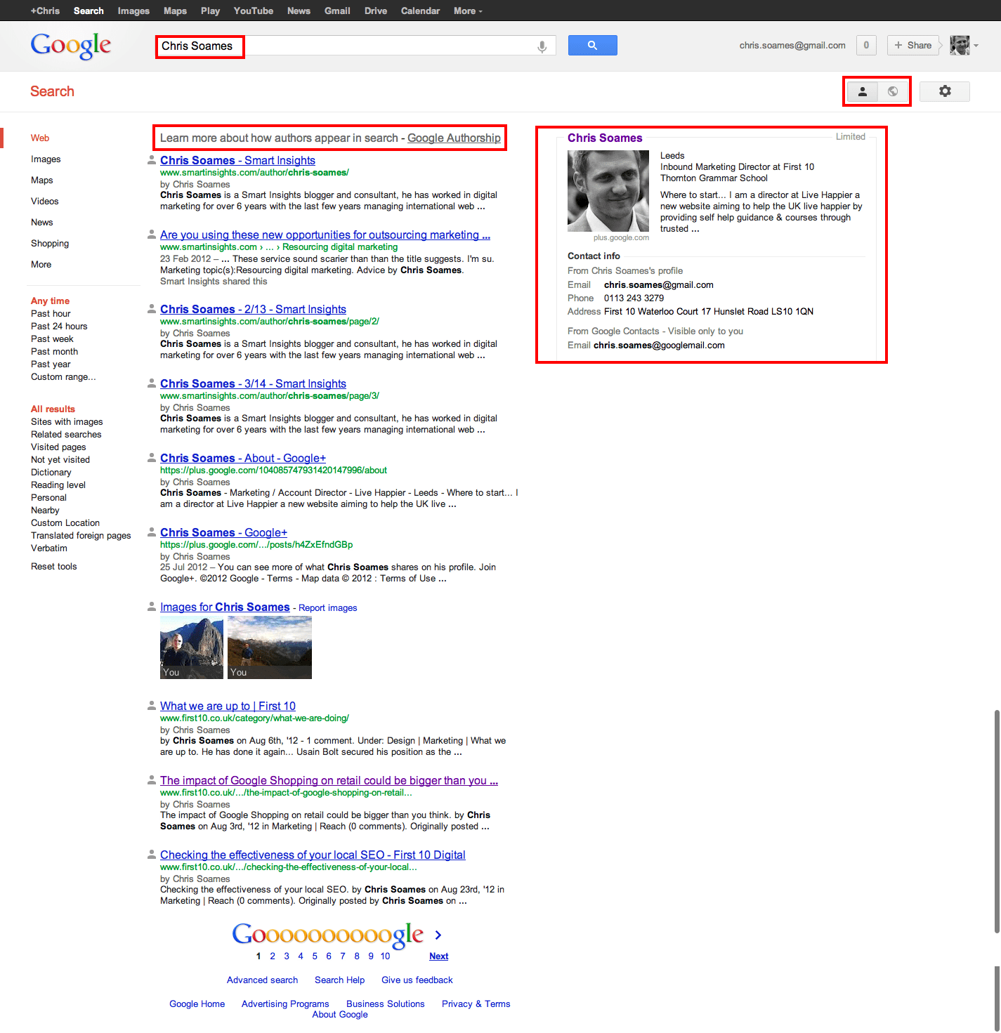 Results Example Search Results Example