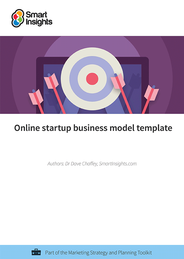 Online startup business model template smart insights login here look inside the online startup business model template cheaphphosting Images