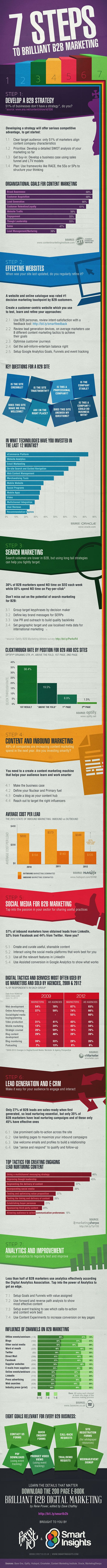 Create Your B2B Marketing Strategy With 7 Steps : infographic