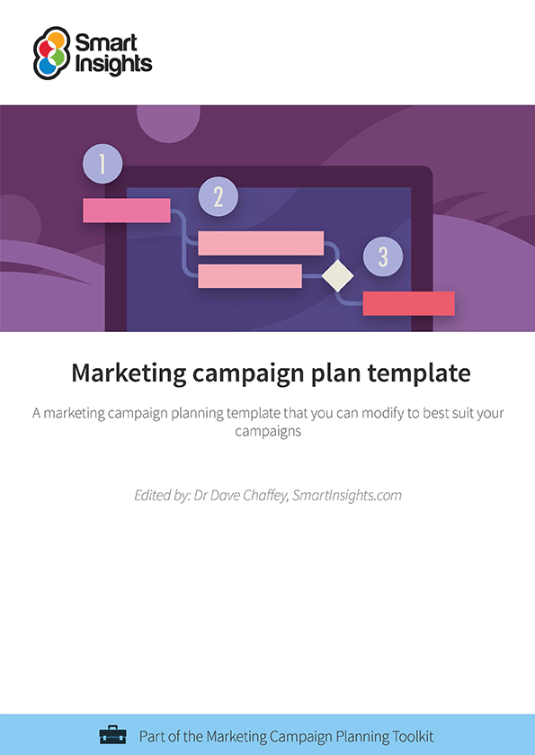 Marketing campaign plan template smart insights for Digital marketing campaign planning template