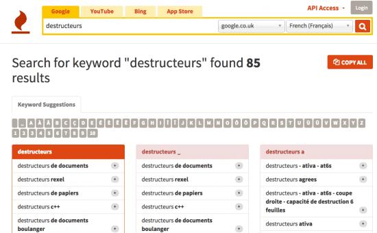 KeyWord Tool example