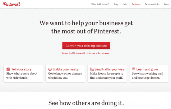 Pinterest Business Page Convert