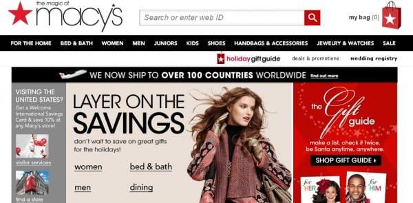 macys online gift guide