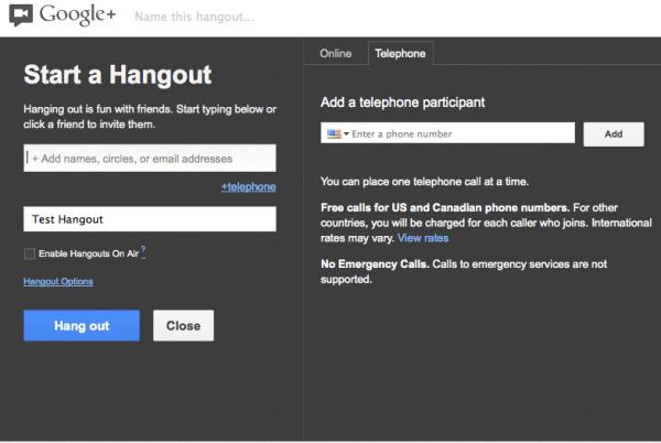 Google plus hangouts on air