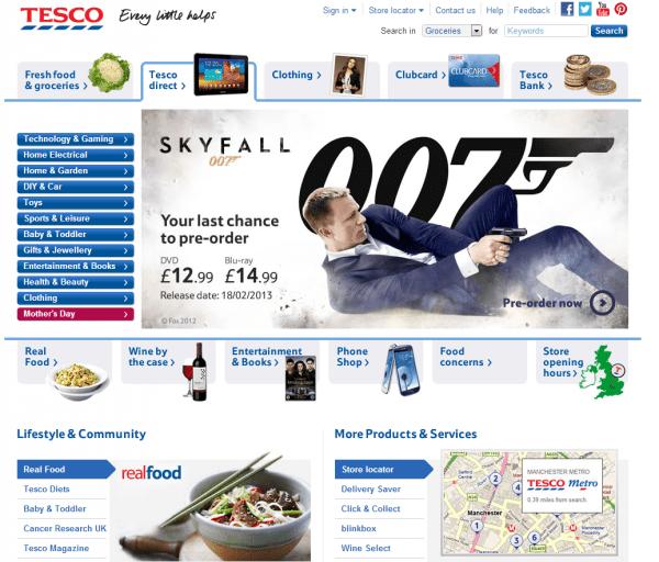 Tesco online branding