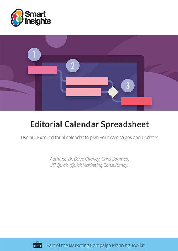 Editorial calendar spreadsheet smart insights learn more about membership already an individual or business member login here look inside the editorial calendar spreadsheet saigontimesfo