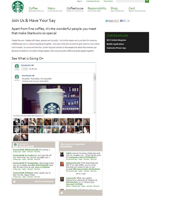 Starbucks social