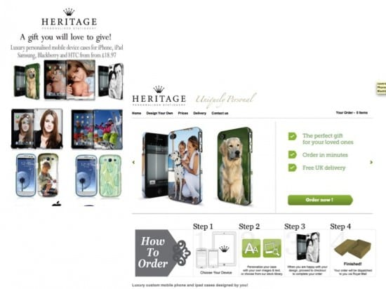 Heritage Stationery landing page