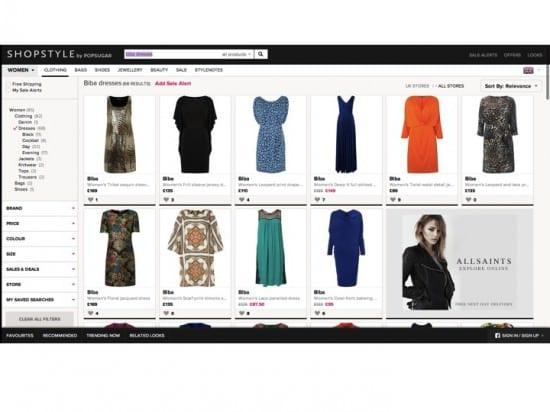 Shopstyle.com landing page