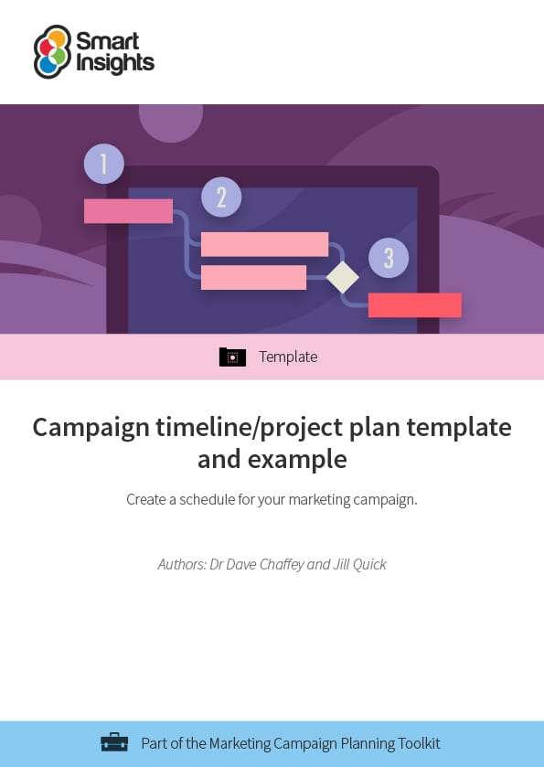 campaign timeline project plan template and example smart insights