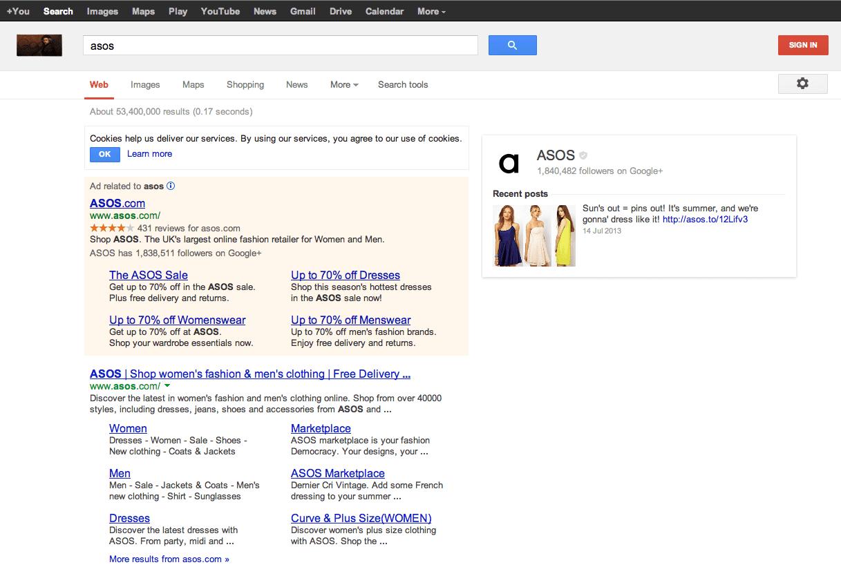 Using a company Google+ identity to create a company logo in