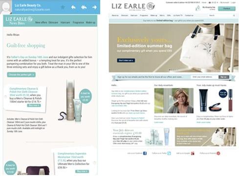 Liz Earle desktop