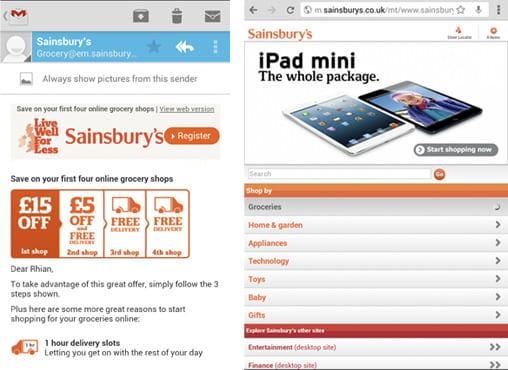 Sainsbury's mobile marketing