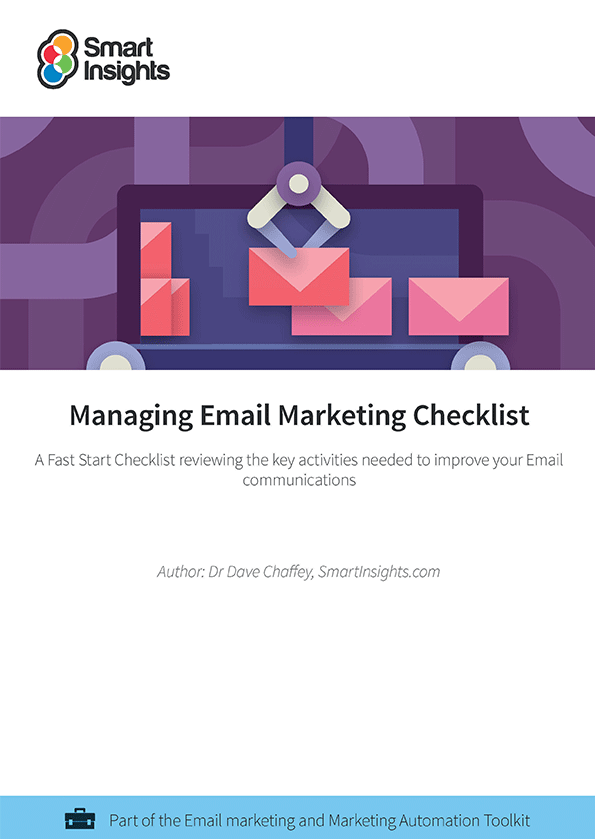 Managing email marketing playbook smart insights learn more about membership already an individual or business member login here look inside cheaphphosting Gallery