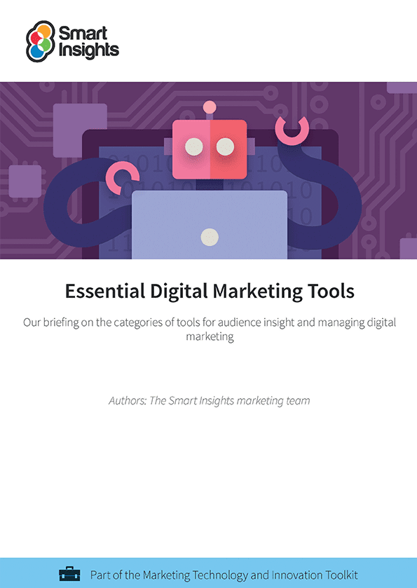 40 Essential Marketing Tools cover
