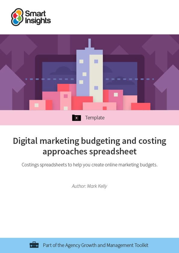 digital marketing budgeting and costing approaches spreadsheet