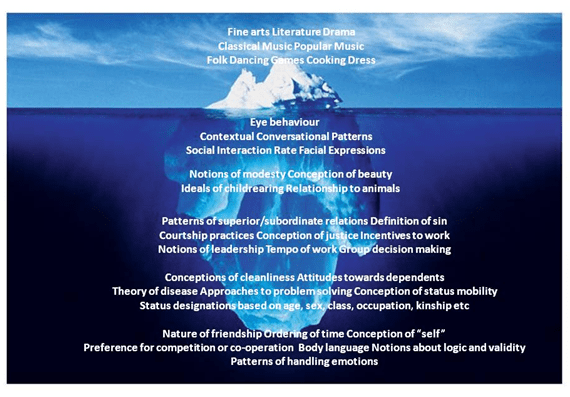 iceberg psychology and edward t hall Culture and context: a summary of geert hofstede's and edward hall's theories of cross-cultural communication for web usability english |  hall, et (1976.