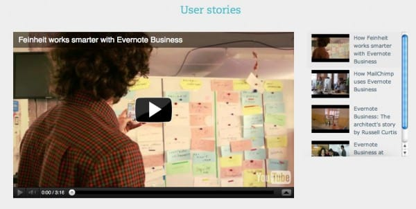 Evernote case study landing page
