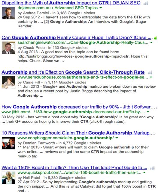 Google Autor maximize teh impact