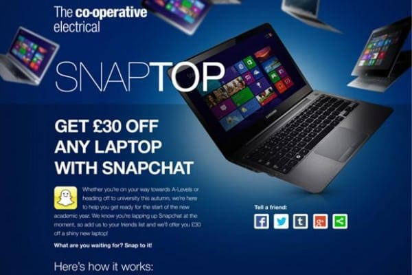 Co-operativesnapchatcampaign