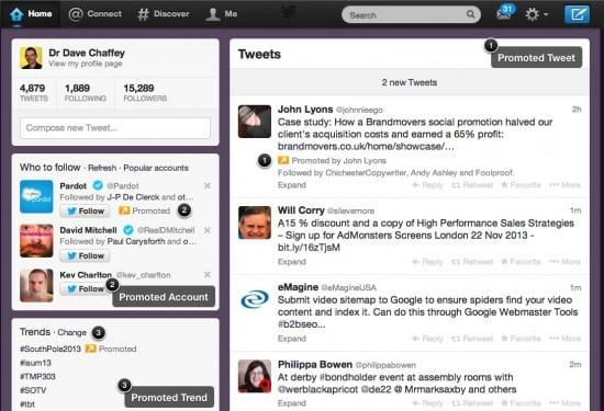 Twitter ad examples