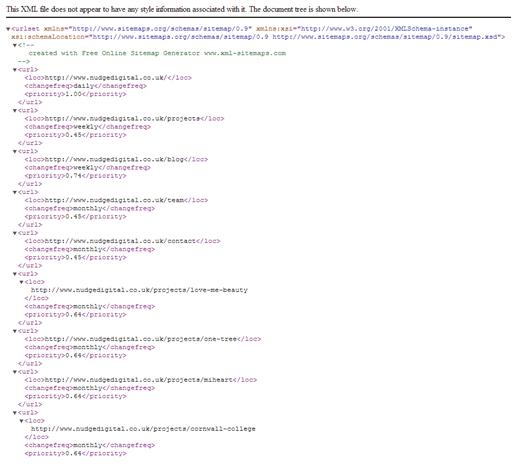 Finalising the XML Sitemap