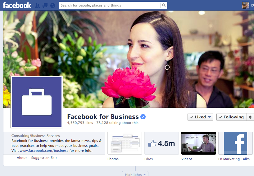 Facebook updates brand page layout - 26/04 update - Smart Insights ...