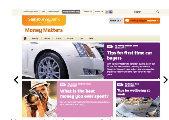 Sainsburyswebsitemoneymatters