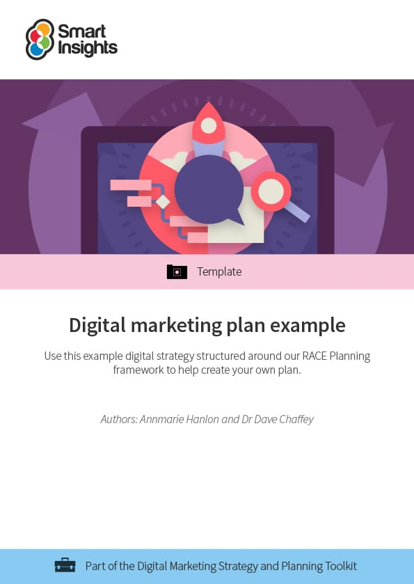 digital marketing plan example smart insights