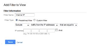 Filters on Google Analytics