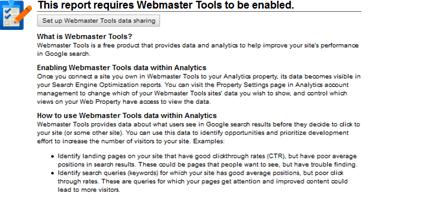 Google Webmaster Tools on Google Analytics