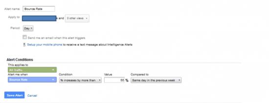 Custom Alerts on Google Webmaster Tools