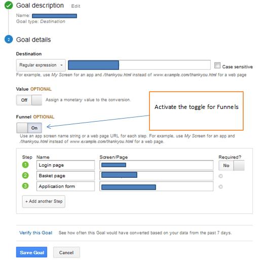 Funnels on Google Analytics